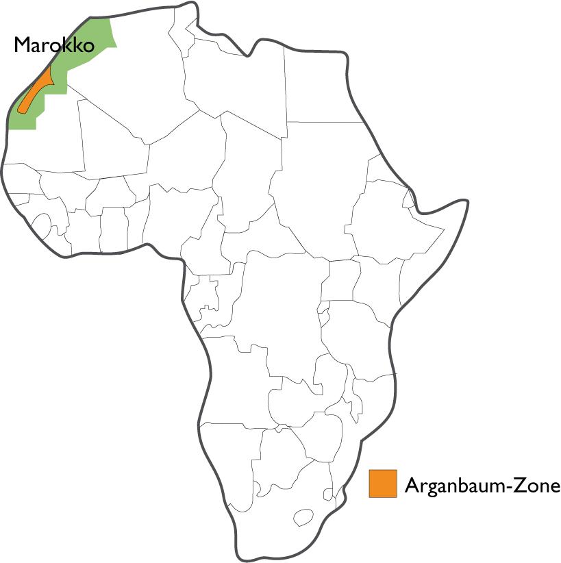 Afrikakarte: Argan-Region in Marokko | © Heike Käser