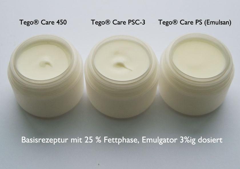 Tego® Care 450, PSC-3 und PS im Vergleich