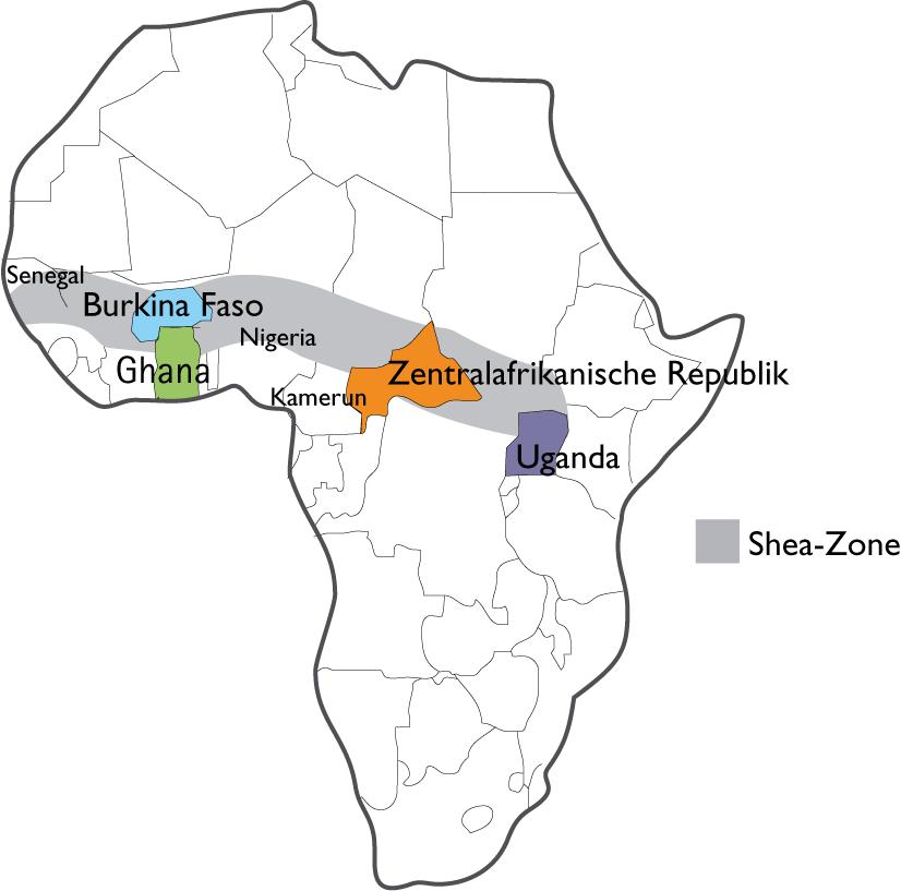 Shea-Gürtel in Afrika, © Heike Käser