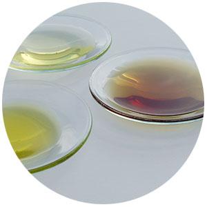 Tabelle mit Fettsäurediagrammen verschiedener Pflanzenöle zum schnellen Vergleichen und Nachschlagen